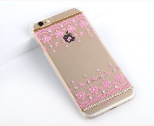 Чехол-накладка для Apple iPhone 6/6S - Kingxbar Roses розовый
