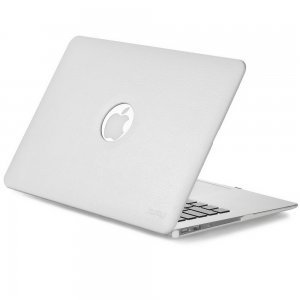 "Чехол-накладка для Apple MacBook Air 13"" - Kuzy Leather Hard Case белый"