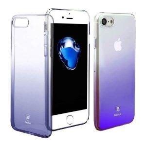 Полупрозрачный чехол Baseus Glaze чёрный для iPhone 7