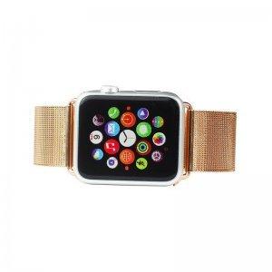 Ремешок для Apple Watch 42/44 мм - iBacks Stainless Steel розовое золото
