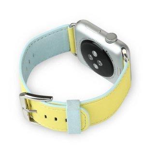 Ремешок Baseus Colorful желтый + синий для Apple Watch 42/44 мм