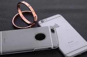 Чехол со стразами iBacks Armour Crystal Cartier серый для iPhone 6/6S