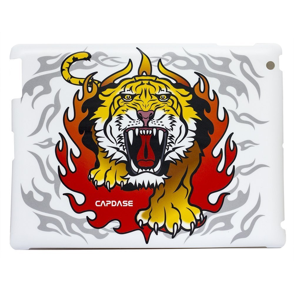 Наклейка для Apple iPad 2/3/4 - Capdase ProSkin Predator-Tiger белая