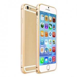 Чехол-бампер Coteetci Aluminum золотистый для iPhone 6/6S