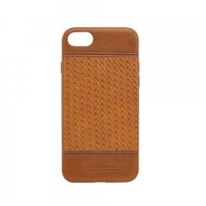 Кожаный чехол Polo Chevron коричневый для iPhone 8 Plus/7 Plus