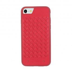 Кожаный чехол Polo Ravel красный для iPhone 8/7/SE 2020
