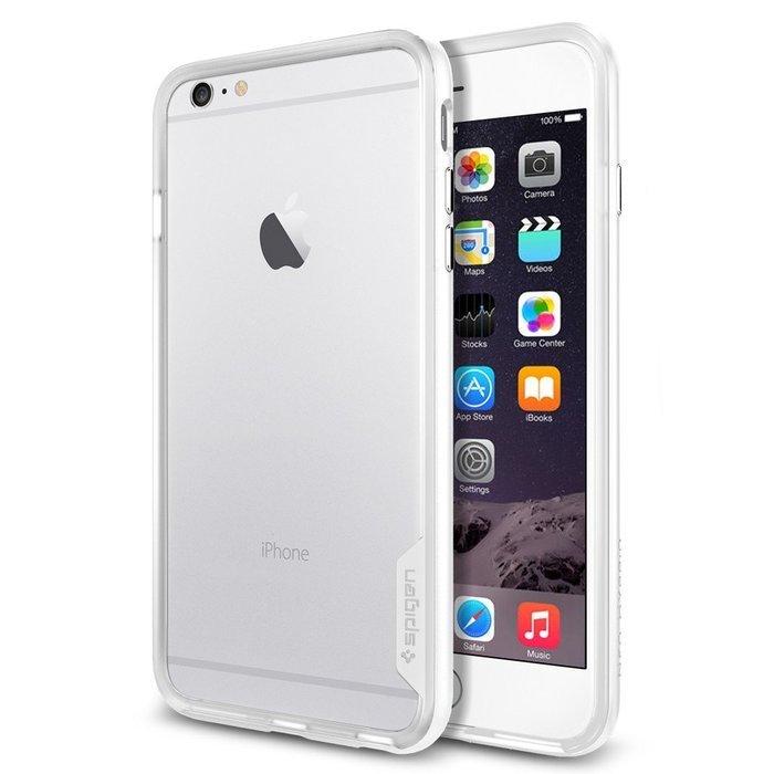 Чехол-бампер для iPhone 6 Plus/6S Plus - Spigen Case Neo Hybrid EX Series белый