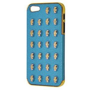 3D чехол 3D Small Skull Pattern голубой для iPhone 5/5S/SE