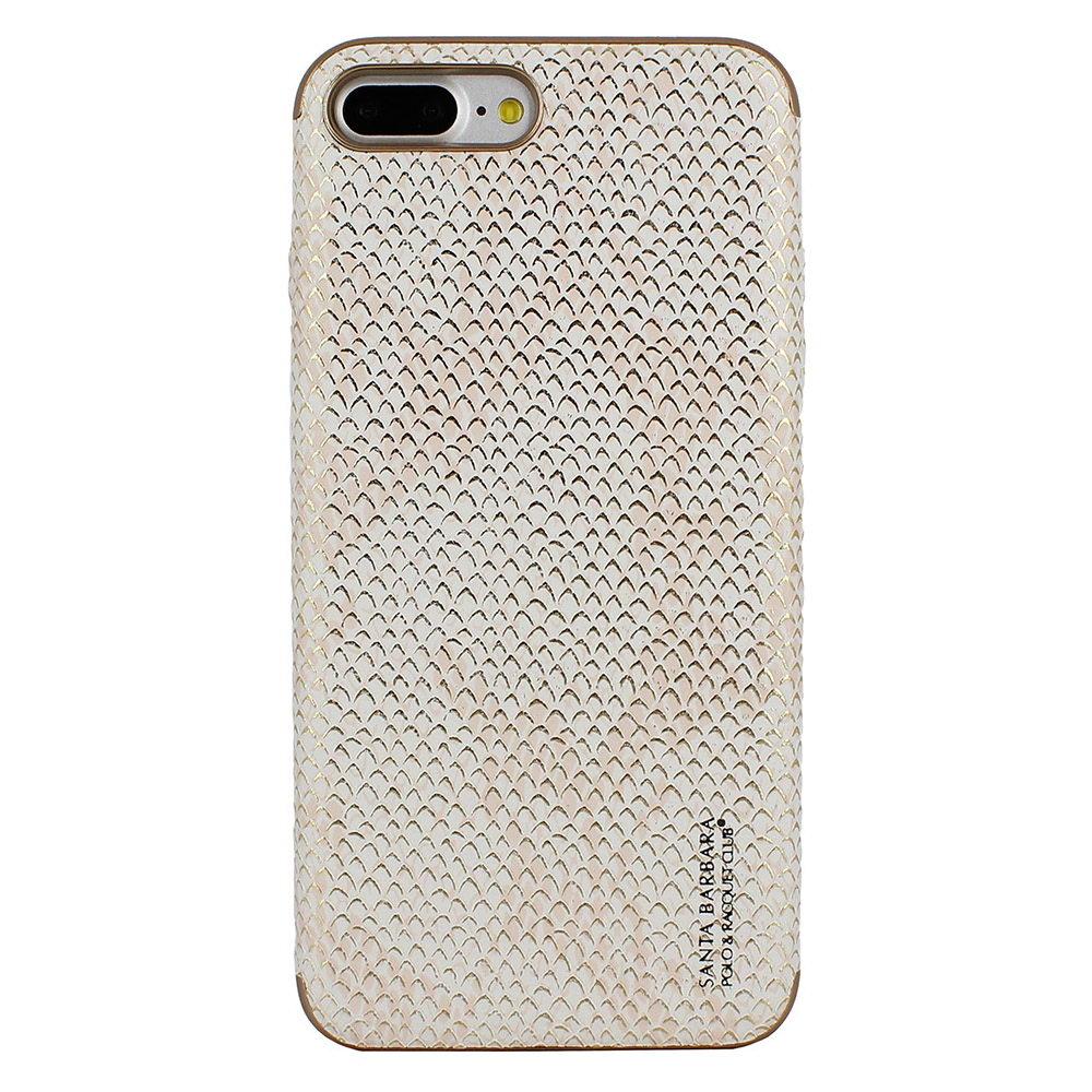 Кожаный чехол Polo Viper Diamond белый для iPhone 8 Plus/7 Plus