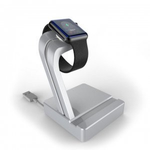 Подставка для Apple Watch, iPhone 5/5S/5S/6/6 Plus - e7 stand AL серебристая