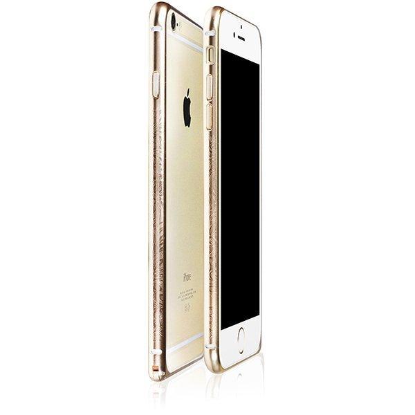 Чехол-бампер для Apple iPhone 6/6S - iBacks Arc-shaped Venezia золотистый
