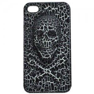 3D чехол Stylish 3D Skull черный для iPhone 4/4S