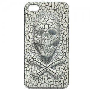 3D чехол Stylish 3D Skull белый для iPhone 4/4S