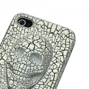 3D чехол Stylish 3D Skull белый для iPhone 4/4S