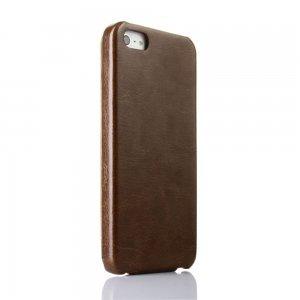 Флип чехол New Case Flip коричневый для iPhone 5/5S/SE