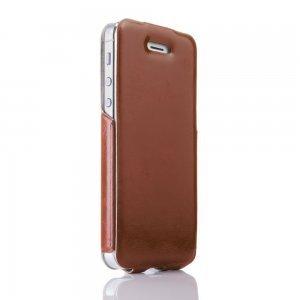 Кожаный флип чехол New Case Flip красный для iPhone 5/5S/SE