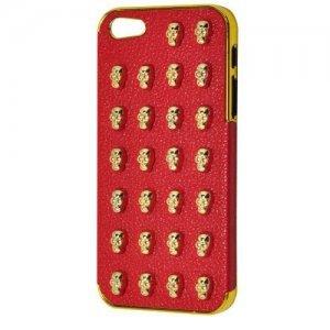 3D чехол 3D Small Skull Pattern красный для iPhone 5/5S/SE