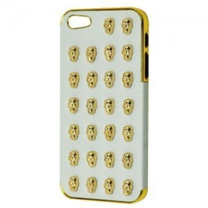 3D чехол 3D Small Skull Pattern белый для Apple iPhone 5/5S/SE