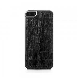 Чехол из натуральной кожи крокодила I-Idea Animal Skins черный для iPhone 5/5S/SE