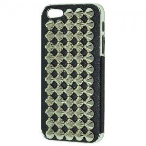 Чехол-накладка для Apple iPhone 5/5S - Cool Stud 3D Goth Designer Diamante черный