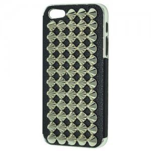 Чехол-накладка для Apple iPhone 5/5S - Cool Stud 3D Goth Designer Diamante черный