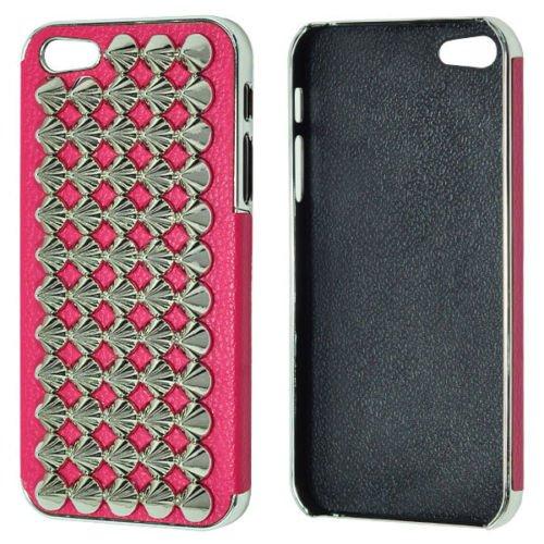 3D чехол Cool Stud Goth Designer Diamante розовый для iPhone 5/5S/SE