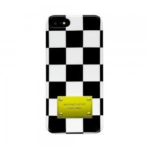 Чехол-накладка для Apple iPhone 5/5S - Michael Kors Design Squares черный + белый