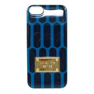 Чехол-накладка для Apple iPhone 5/5S - Michael Kors Design honeycomb синий + черный