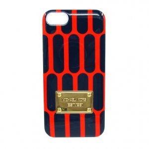 Чехол-накладка для Apple iPhone 5/5S - Michael Kors Design honeycomb оранжевый + черный