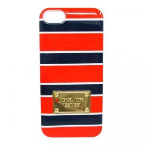 Чехол-накладка для Apple iPhone 5/5S - Michael Kors Design Lines красный + синий