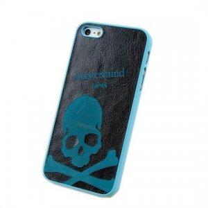 Чехол с рисунком Mastermind Frosted Crossbones голубой + черный для iPhone 5/5S/SE