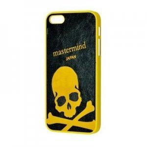 Чехол с рисунком Mastermind Frosted Crossbones желтый + черный для iPhone 5/5S/SE