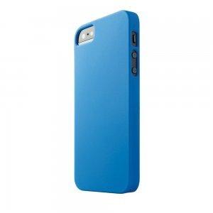 Пластиковый чехол New Case Matte синий для iPhone 5/5S/SE