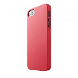 Пластиковый чехол New Case Matte красный для iPhone 5/5S/SE