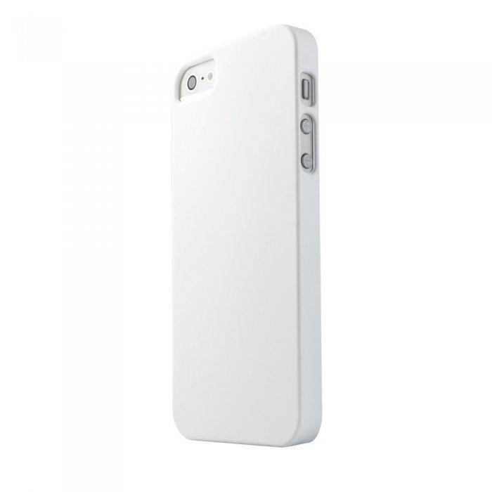 Пластиковый чехол New Case Matte белый для iPhone 5/5S/SE