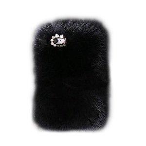 Чехол-накладка для Apple iPhone 5/5S - New Case Natural Fur черный