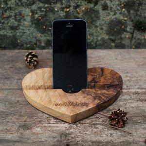 Подставка для iPhone - EcoWalNut Сердце