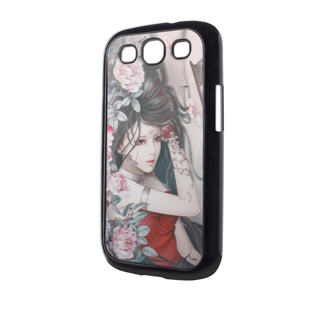 Чехол-накладка для Samsung Galaxy S3 - 3d Effect с рисунком Girl and flowers