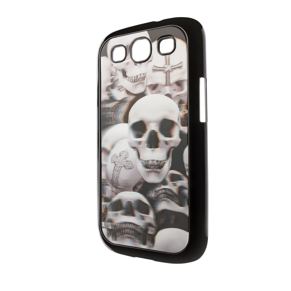 Чехол-накладка для Samsung Galaxy S3 - 3d Effect с рисунком Skulls