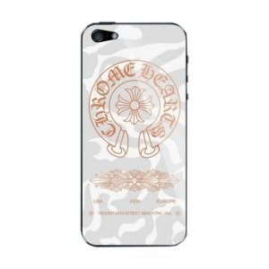 Наклейка для Apple iPhone 5/5S - A+ Skin Chrome Hearts серая