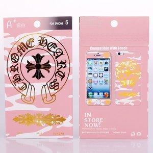 Наклейка для Apple iPhone 5/5S - A+ Skin Chrome Hearts розовая