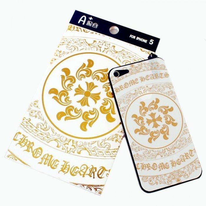 Наклейка для Apple iPhone 5/5S - A+ Skin Chrome Hearts белая