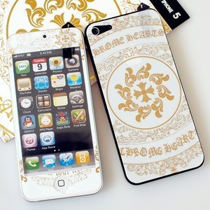 Наклейка для Apple iPhone 5/5S - A+ Skin Chrome Hearts белая