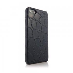 Чехол из натуральной кожи ящерицы I-Idea Animal Skins черный для iPhone 5/5S/SE