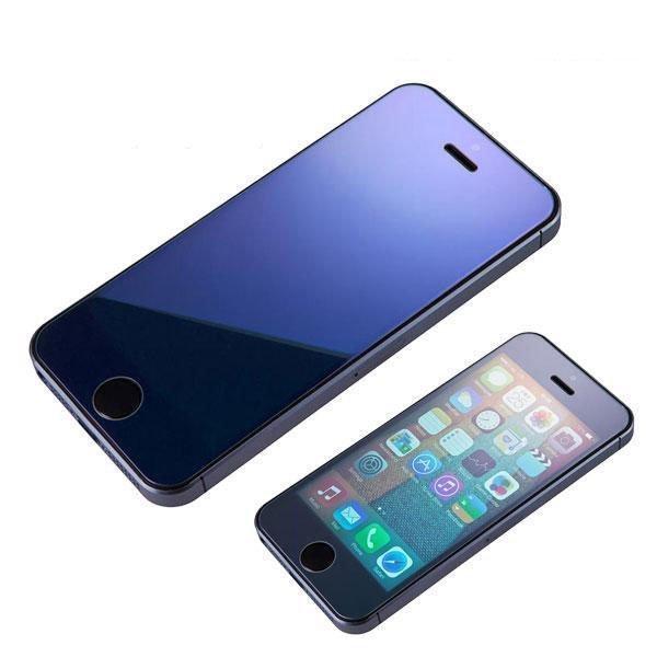 Защитное стекло для Apple iPhone 5/5S - глянцевое, синие