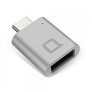 Переходник NoNDA с USB на USB-C серый