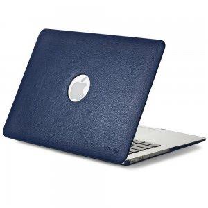 "Чехол-накладка для Apple MacBook Air 13"" - Kuzy Leather Hard Case темно-синий"