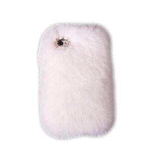 Чехол-накладка для Apple iPhone 5/5S - New Case Natural Fur белый
