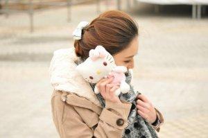 Чехол-игрушка New Case Hello Kitty белый для iPhone 5/5S/SE