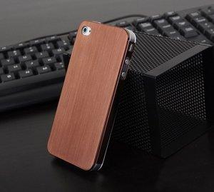 Металлический чехол NewCase Ultra Thin коричневый для iPhone 5/5S/SE